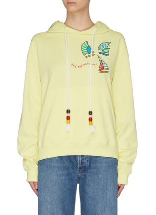 Main View - Click To Enlarge - MIRA MIKATI - Sailing boat embroidered hoodie