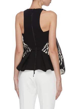 Back View - Click To Enlarge - MATICEVSKI - 'Clade' animal print bodice top