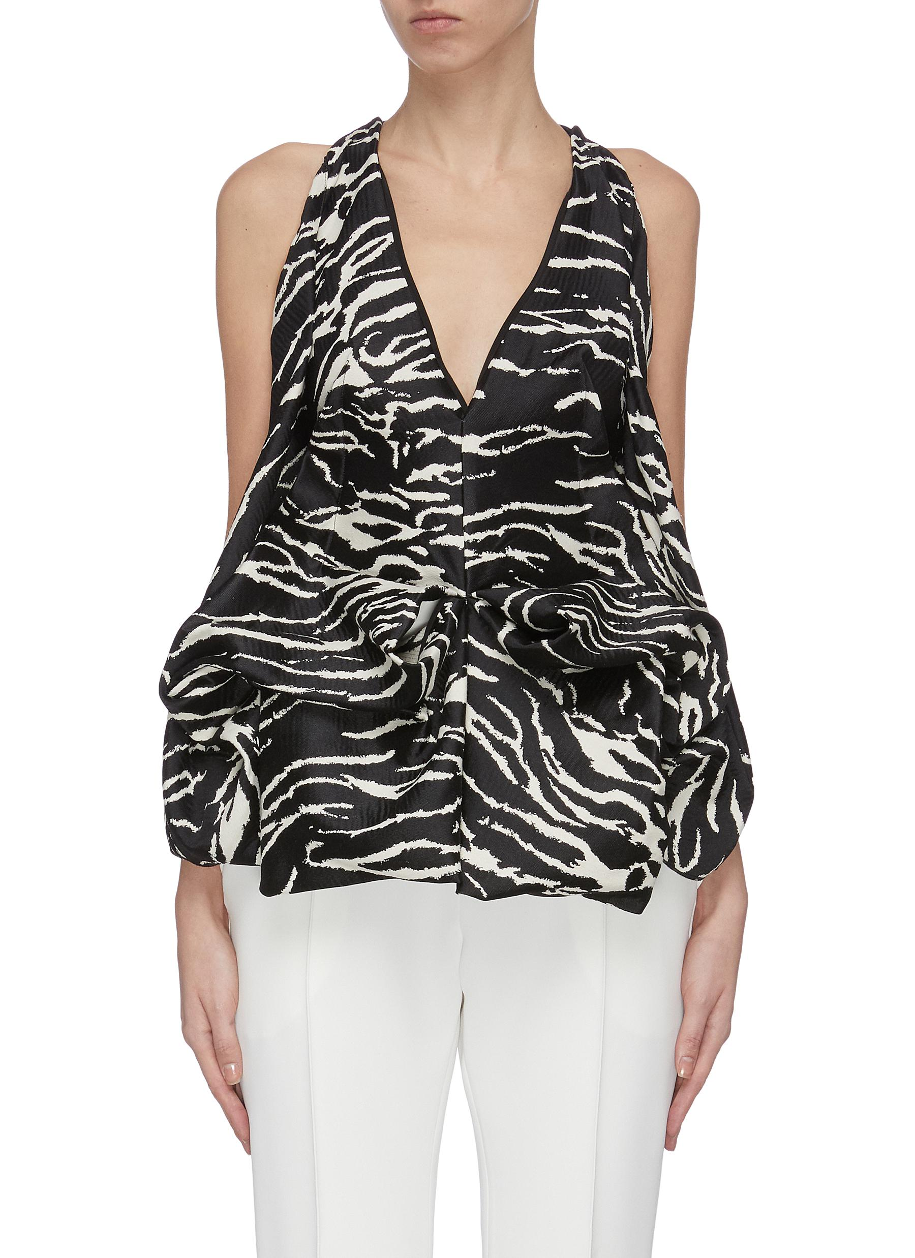 Buy Maticevski Tops 'Clade' animal print bodice top