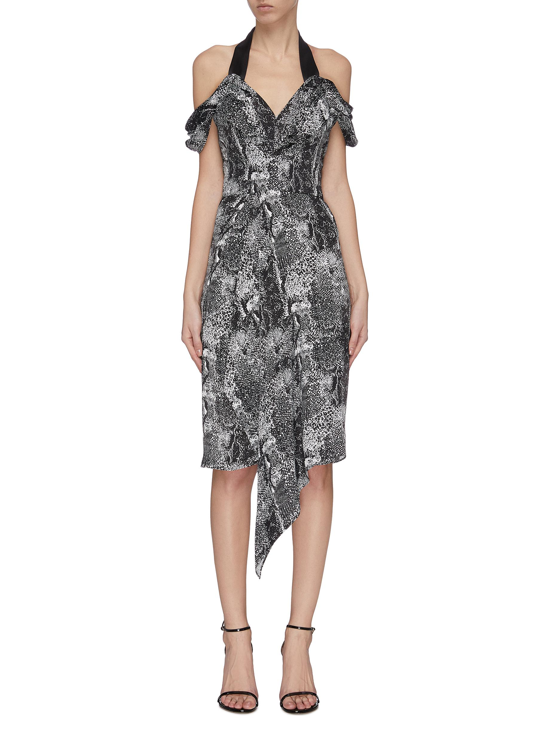 Buy Maticevski Dresses 'Chrysalis' graphic print V-neck dress