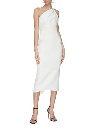 Figure View - Click To Enlarge - MATICEVSKI - 'Atomised' drape one shoulder midi dress