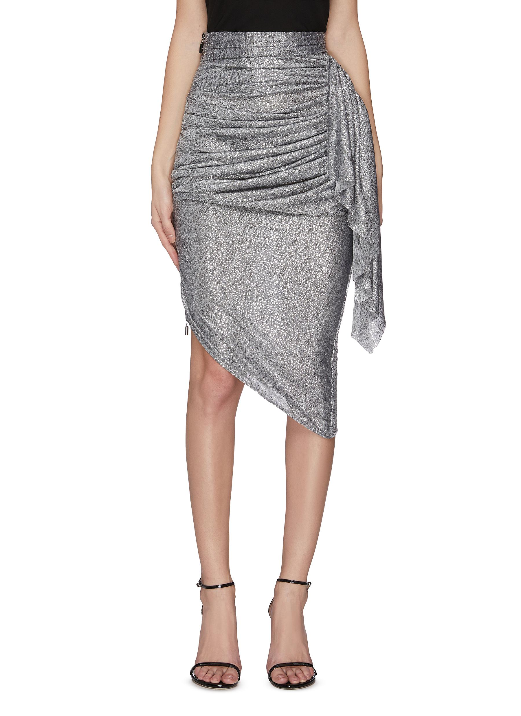 Buy Maticevski Skirts 'Raining' drape asymmetric skirt
