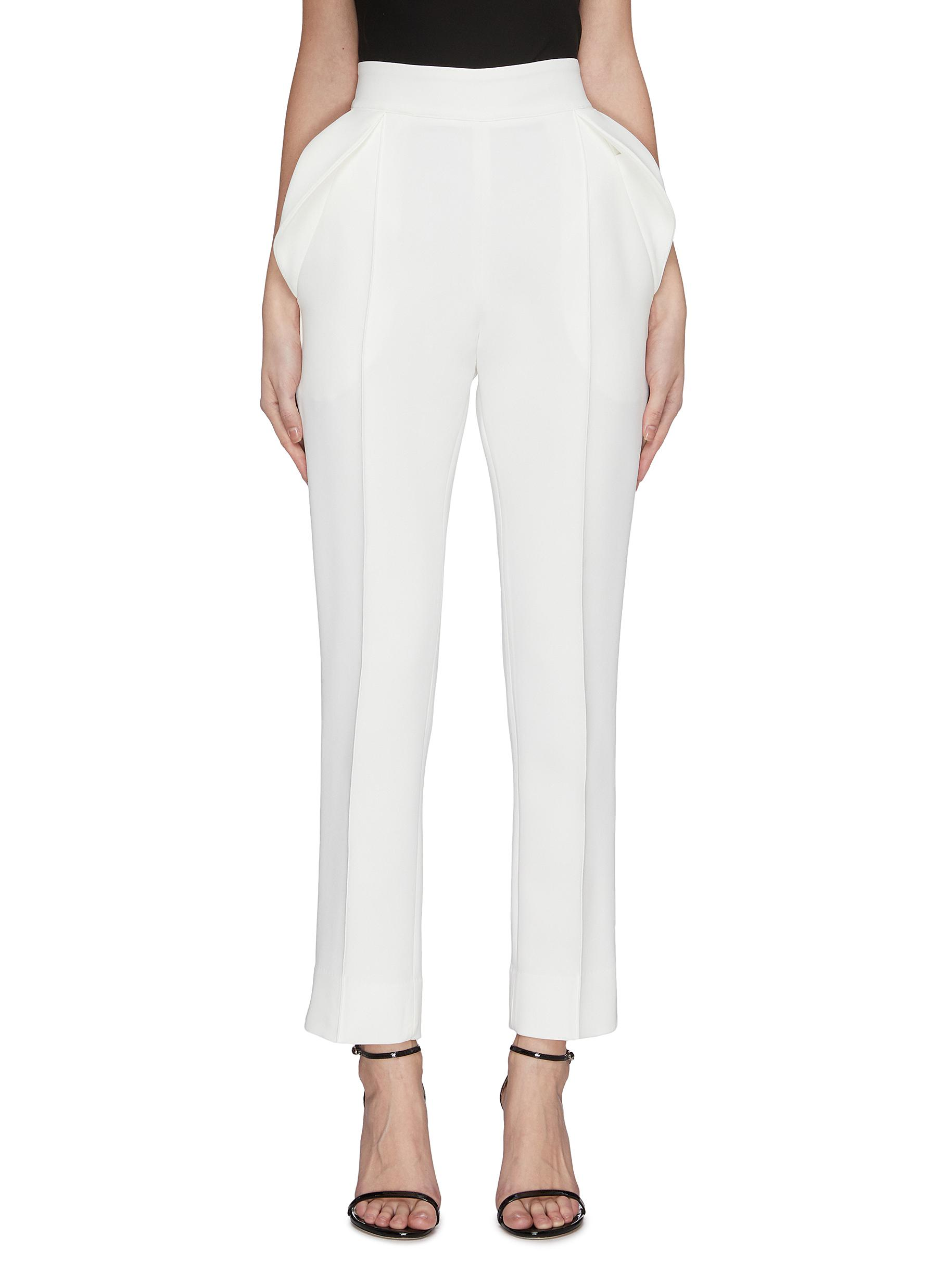 Buy Maticevski Pants & Shorts 'Prolific' ruffle detail suiting pants