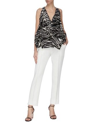 Figure View - Click To Enlarge - MATICEVSKI - 'Prolific' ruffle detail suiting pants