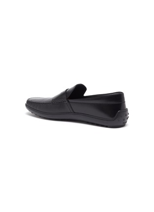 - TOD'S - 'Gomma' leather penny loafers