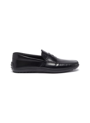 Main View - Click To Enlarge - TOD'S - 'Gomma' leather penny loafers