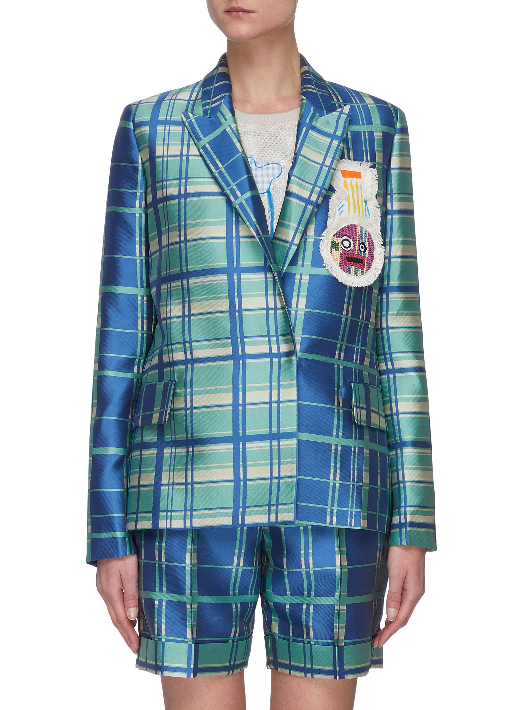shop Mira Mikati Check Double Breasted Jacket online