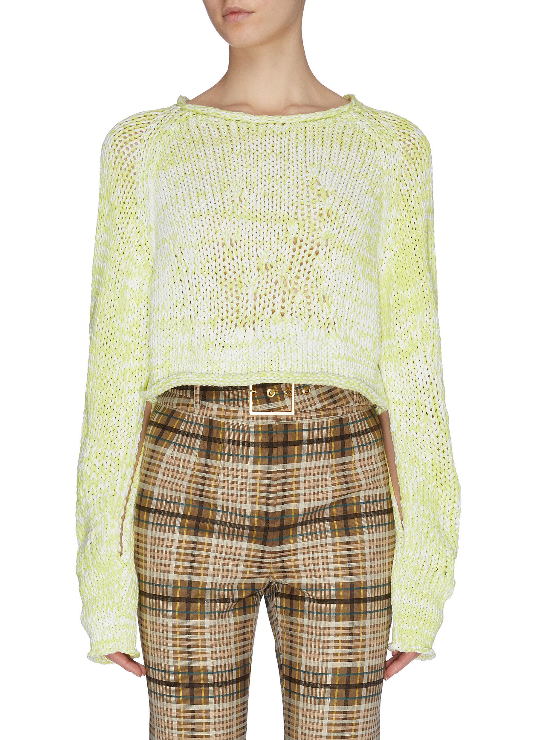 Buy Mrz Knitwear Contrast mouliné cropped sweater