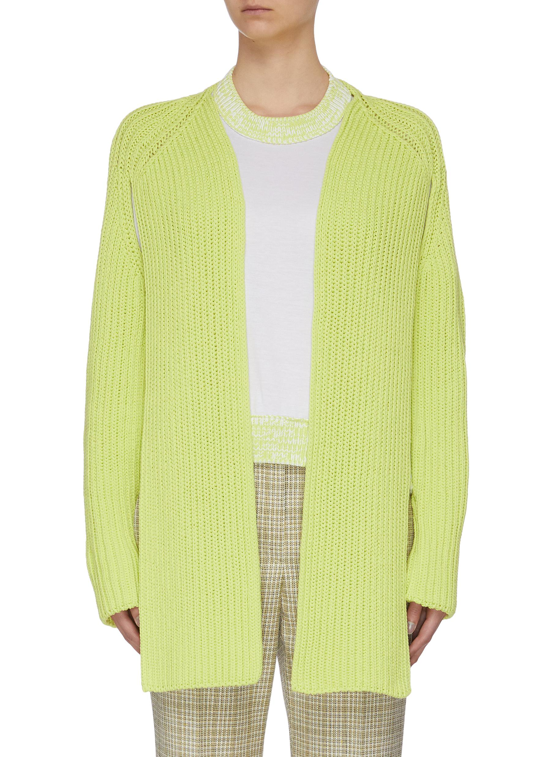 Buy Mrz Knitwear 'Coprispalle Lungo' open back cardigan