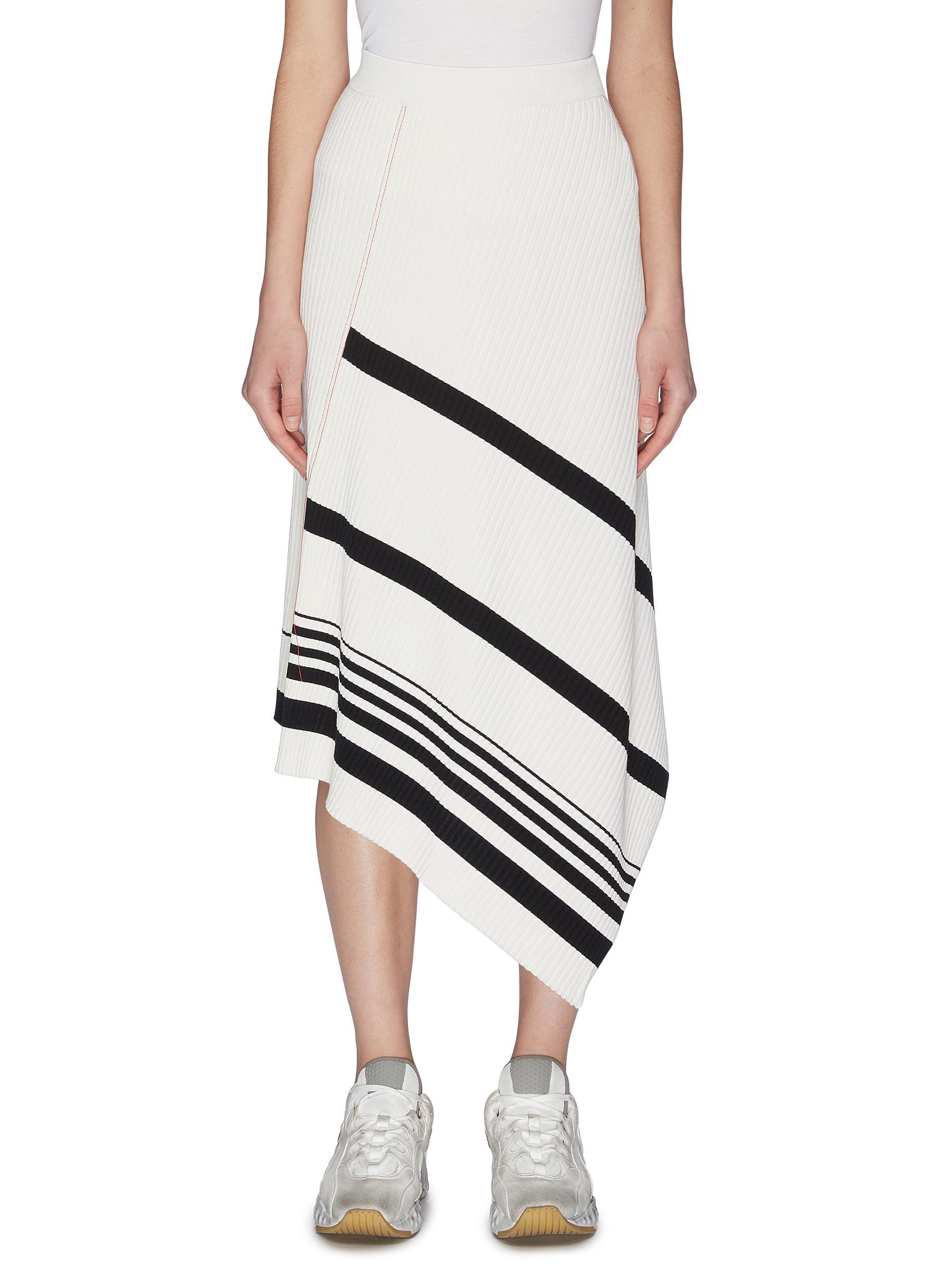 shop Mrz 'Gonna Coste' asymmetric side slit rib knit skirt online
