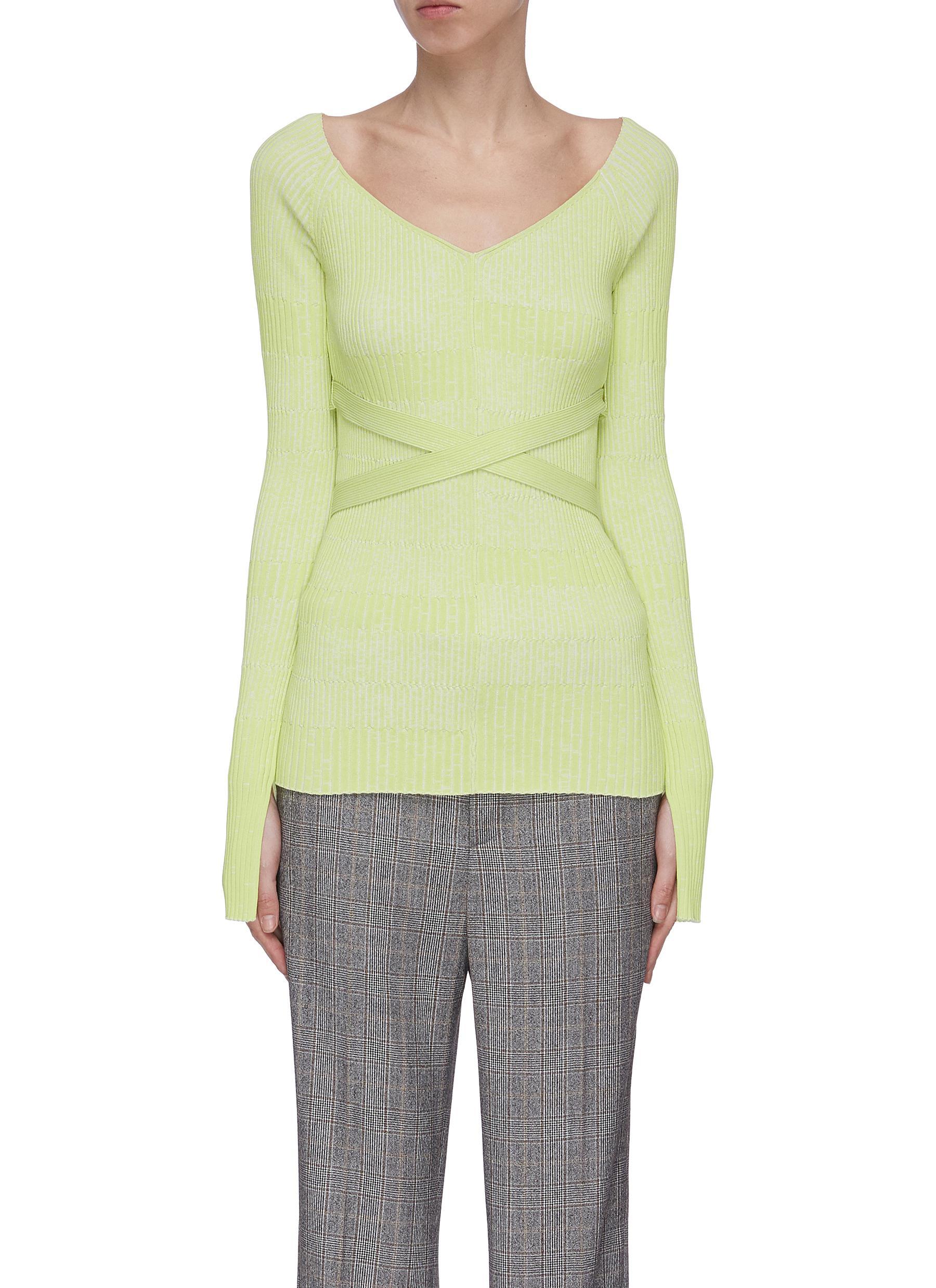 Buy Mrz Knitwear 'Scollo' wrapped V-neck sweater