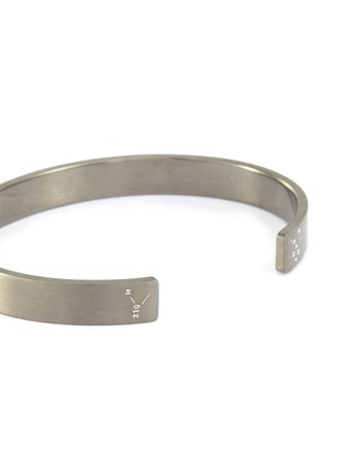 Detail View - Click To Enlarge - LE GRAMME - 'LE 21 GRAMMES' BRUSHED STERLING SILVER CUFF