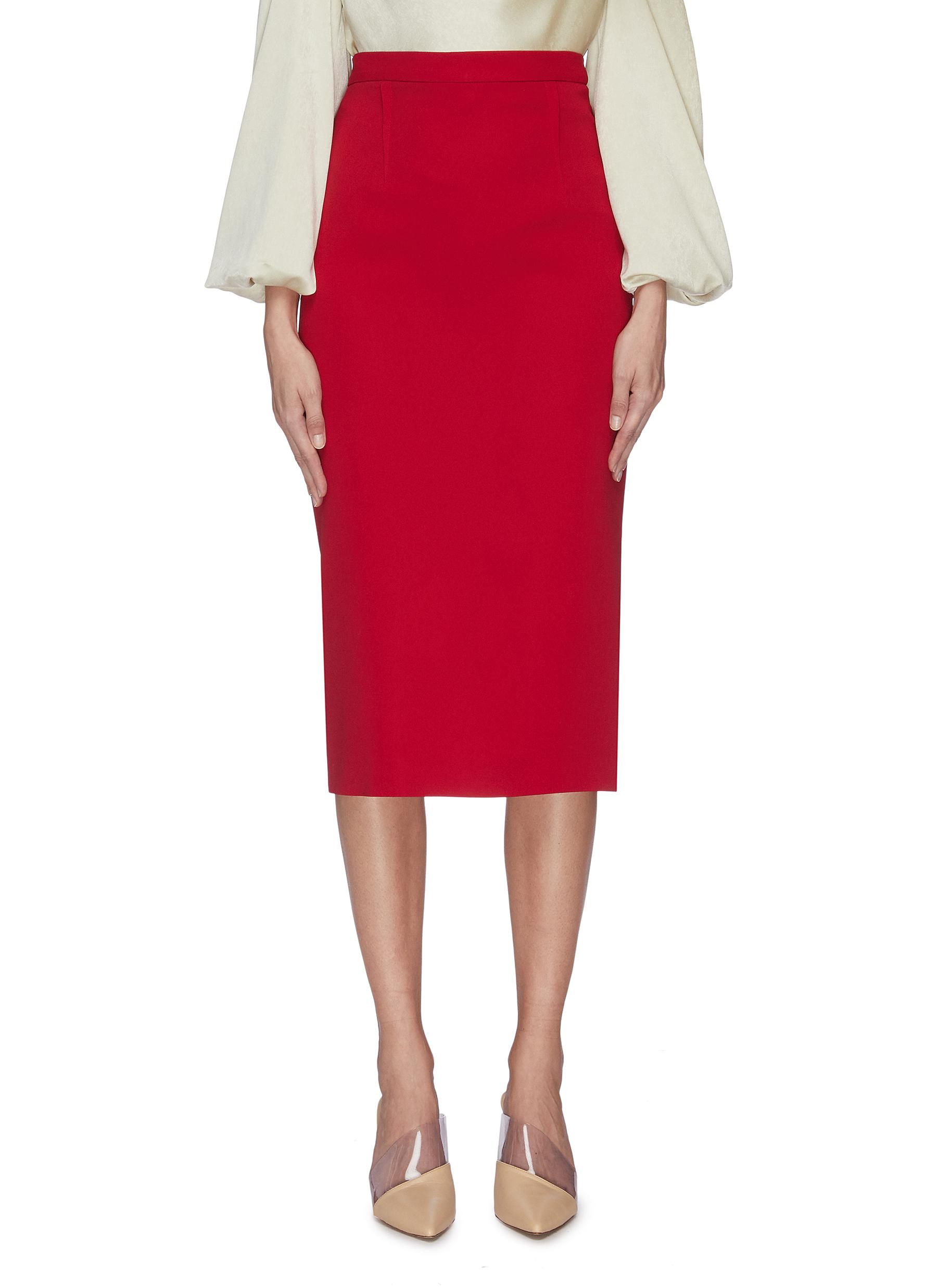 shop Roland Mouret 'Arreton' back slit pencil skirt online