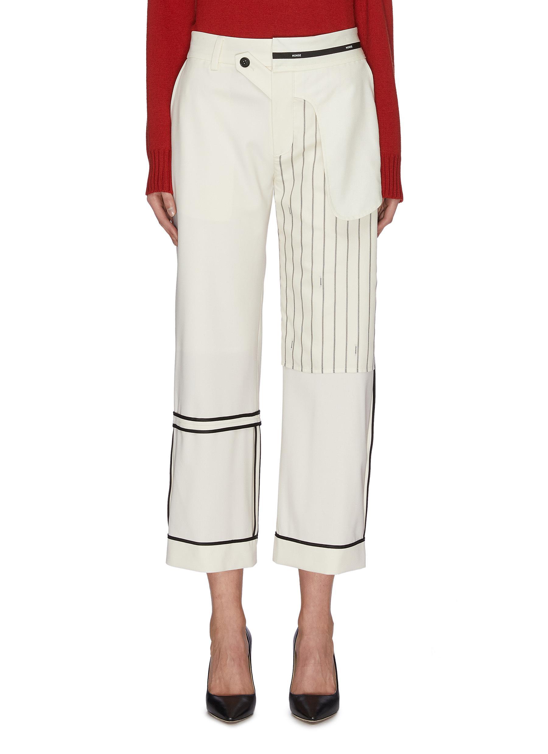 Buy Monse Pants & Shorts 'Inside out' patchwork pants