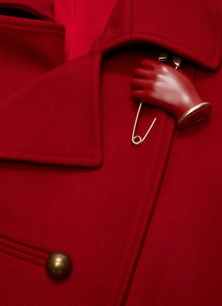 - MONSE - Asymmetric slit hem double breasted coat
