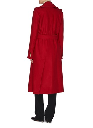 Back View - Click To Enlarge - MONSE - Asymmetric slit hem double breasted coat