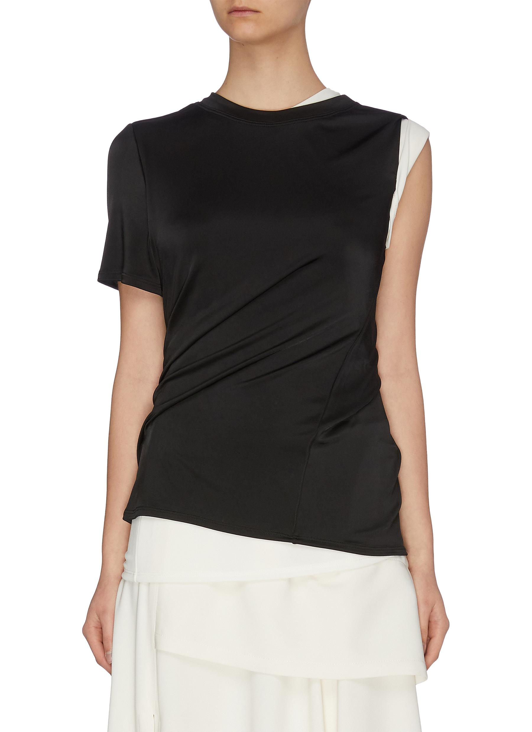 shop Monse Double layer twisted jersey top online