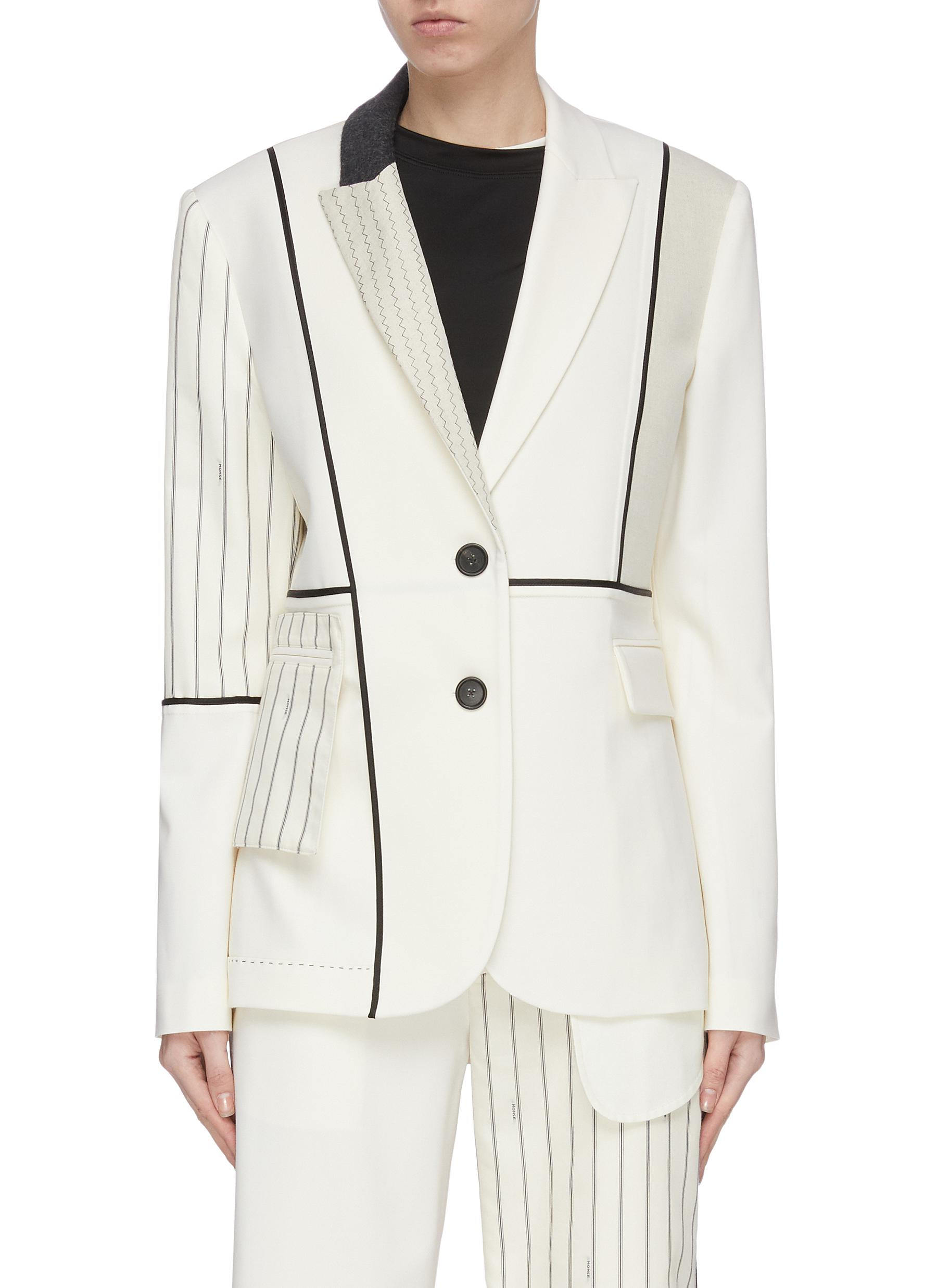Buy Monse Blazers 'Inside Out' patchwork blazer