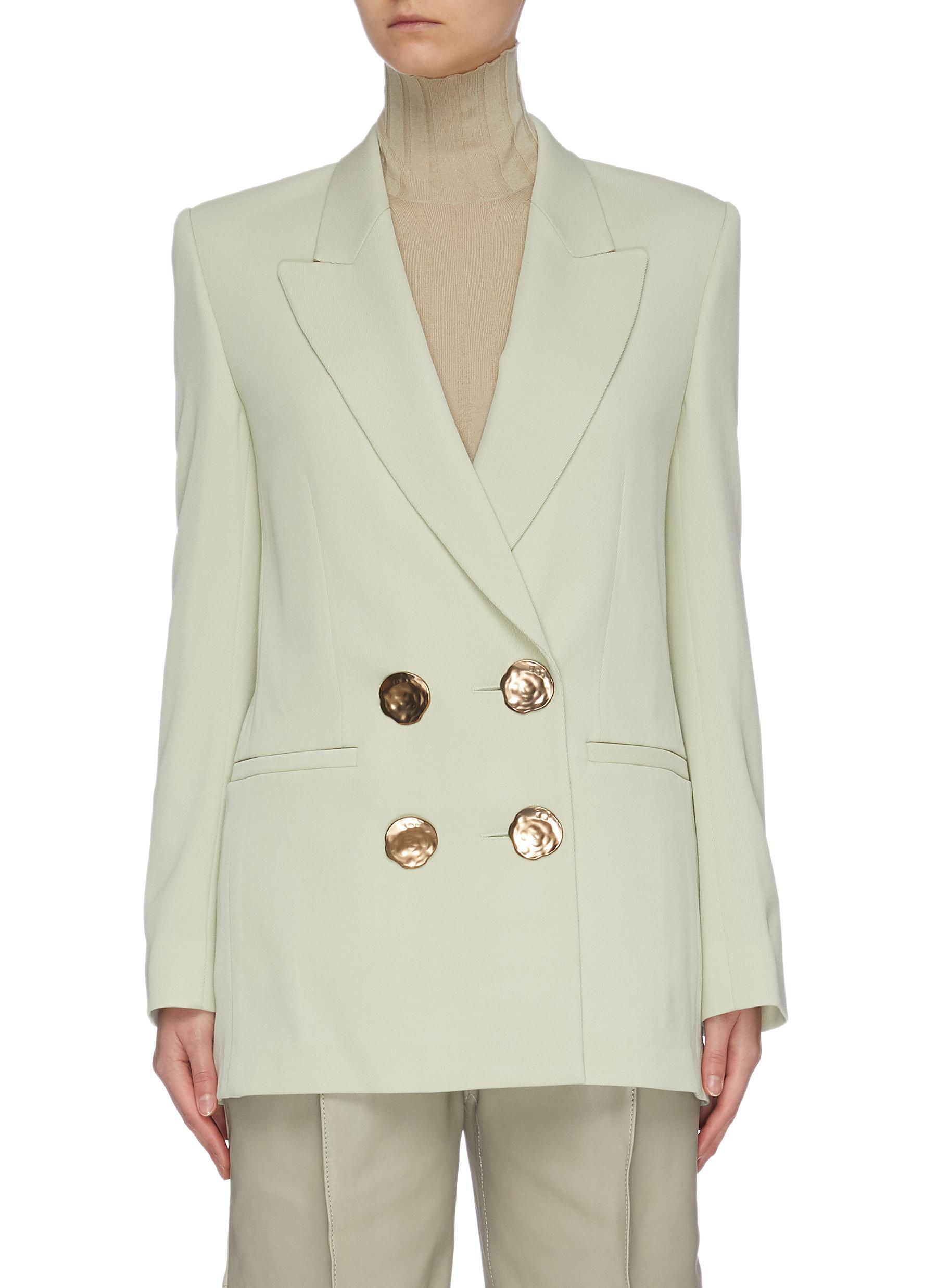 shop Petar Petrov Double breasted metal button blazer online