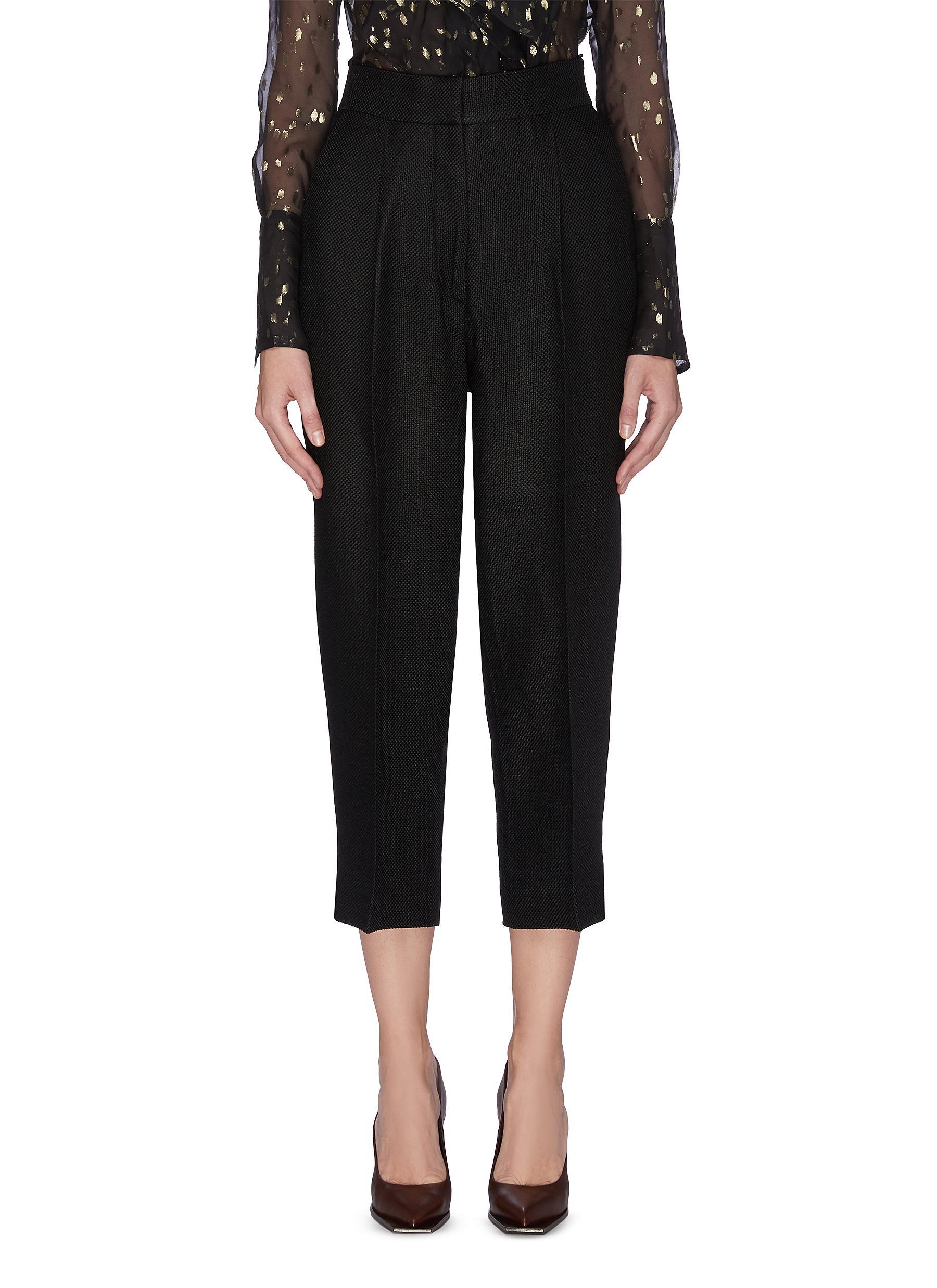 shop Petar Petrov Pleated crop suiting pants online