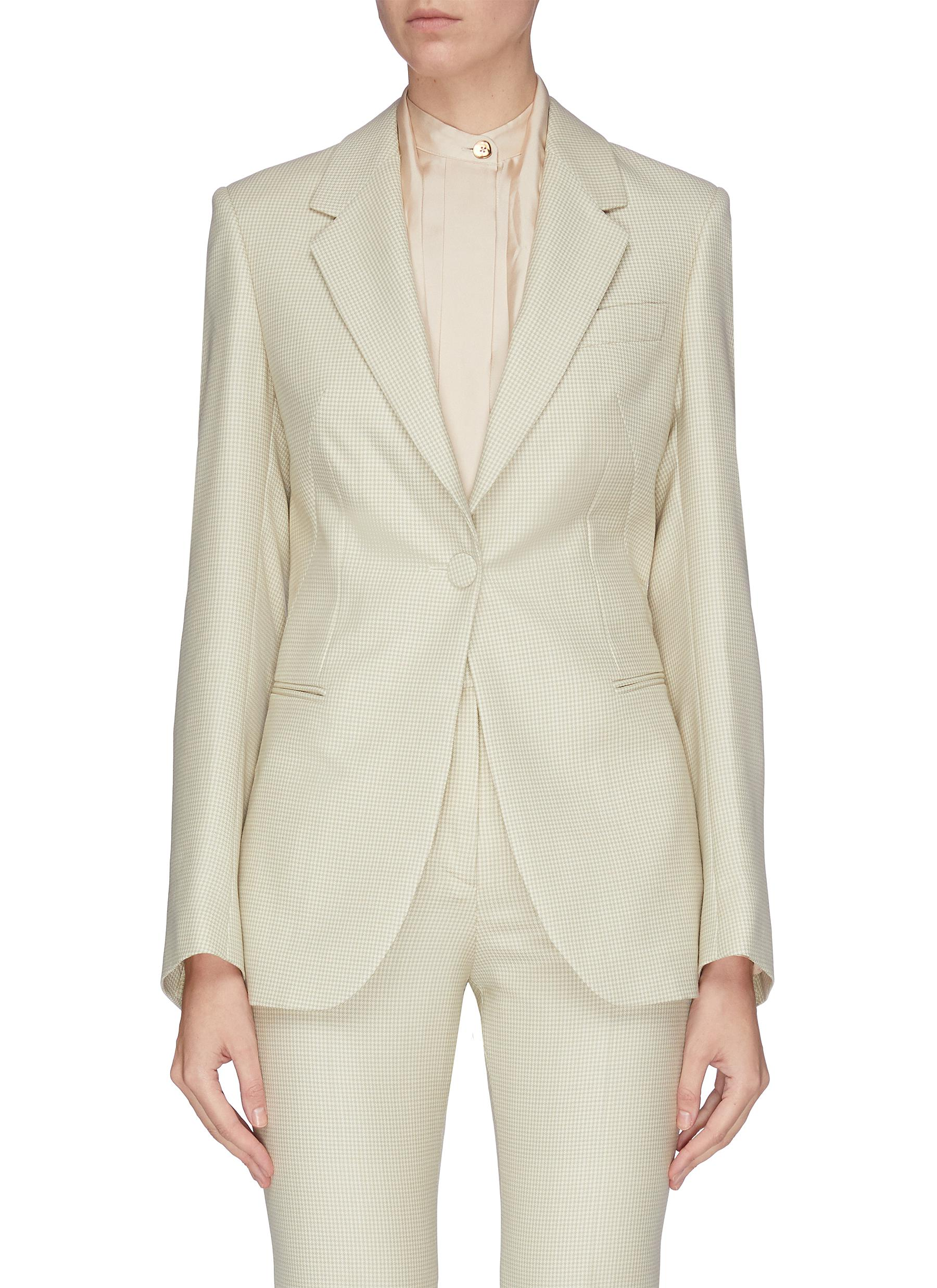 shop Petar Petrov Jetted pocket tailored blazer online