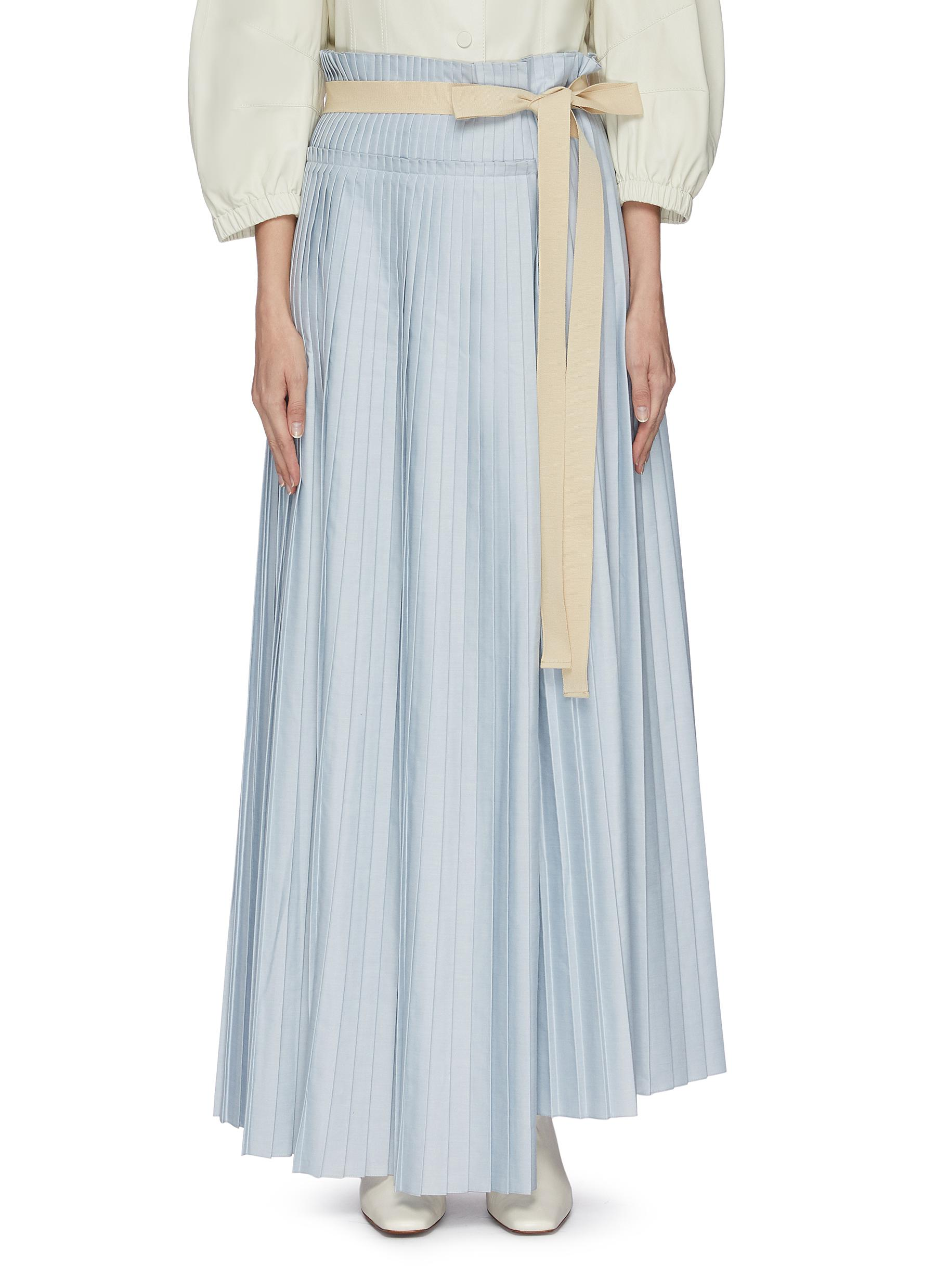 shop Roksanda 'Lafia' ribbon asymmetric pleated skirt online
