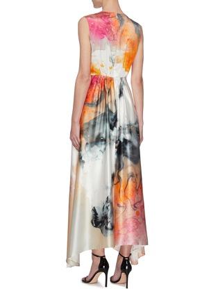 Back View - Click To Enlarge - ROKSANDA - Watercolour Print Maxi Dress