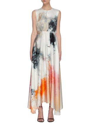 Main View - Click To Enlarge - ROKSANDA - Watercolour Print Maxi Dress