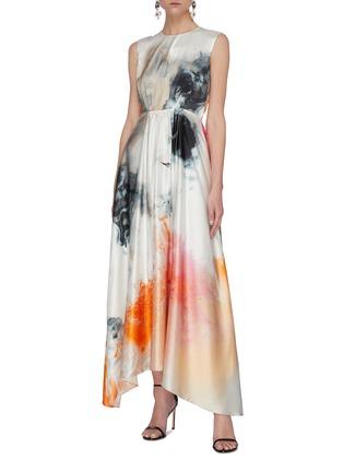 Figure View - Click To Enlarge - ROKSANDA - Watercolour Print Maxi Dress