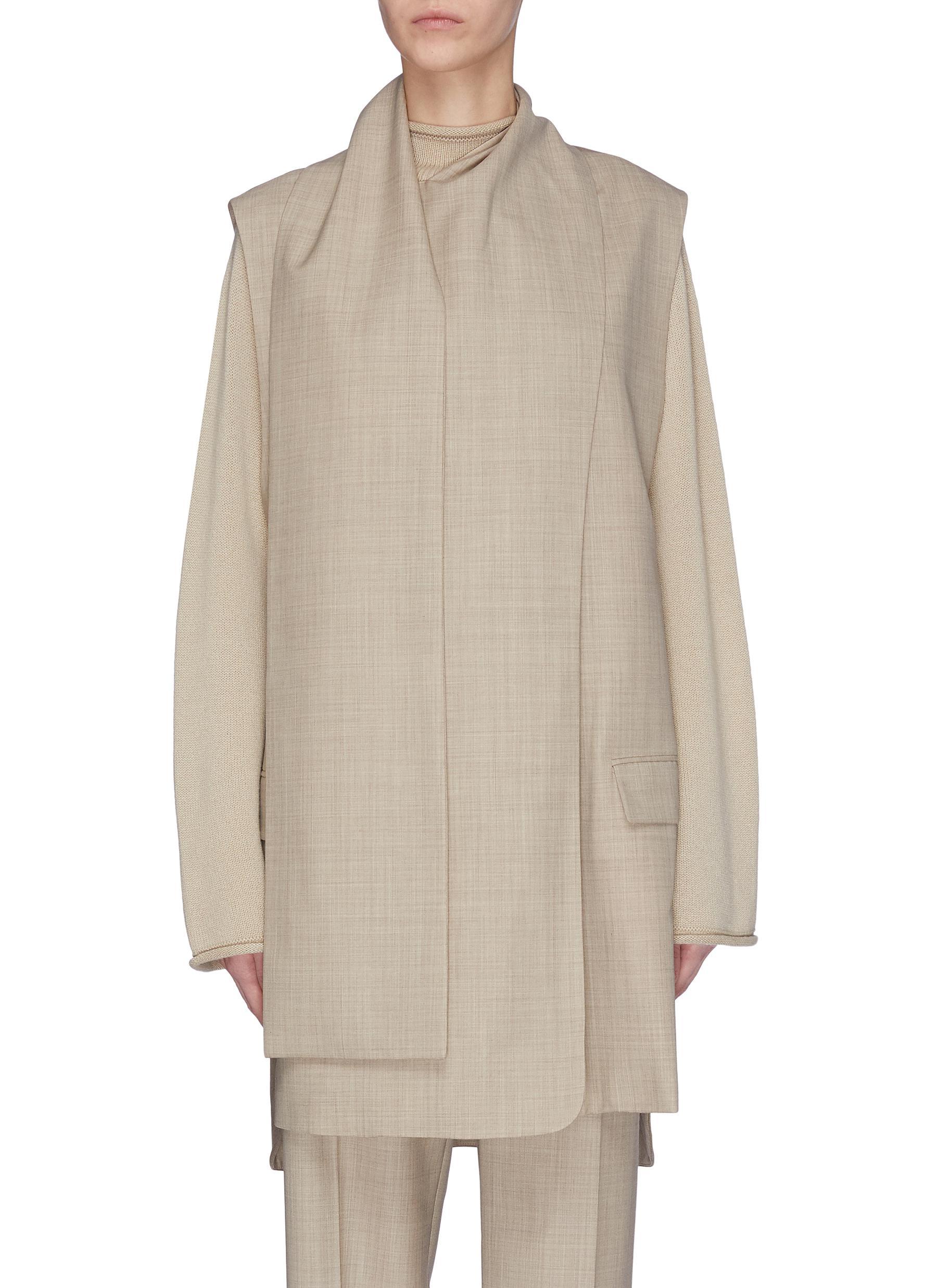 Buy Roksanda Jackets 'Tilia' drape wool-crepe vest