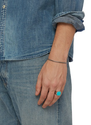 Figure View - Click To Enlarge - TOM WOOD - 'Cushion Turquoise' silver signet ring – Size 60