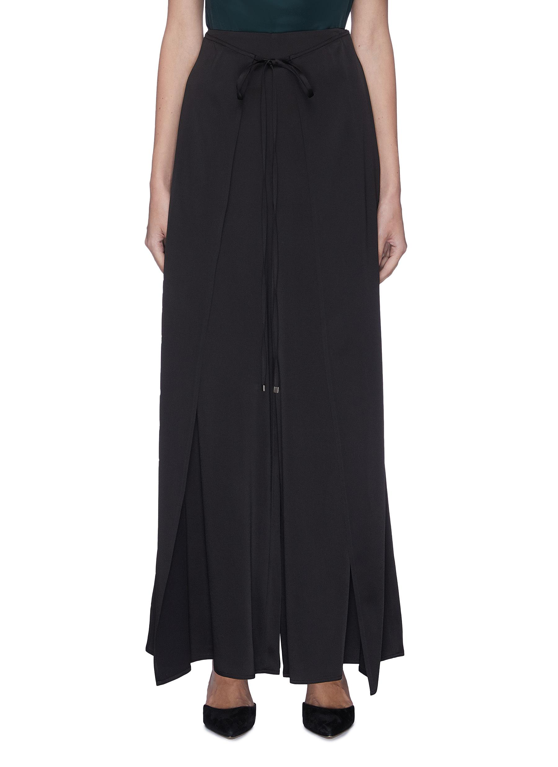 shop Rosetta Getty Waist tie wide leg wrap pants online