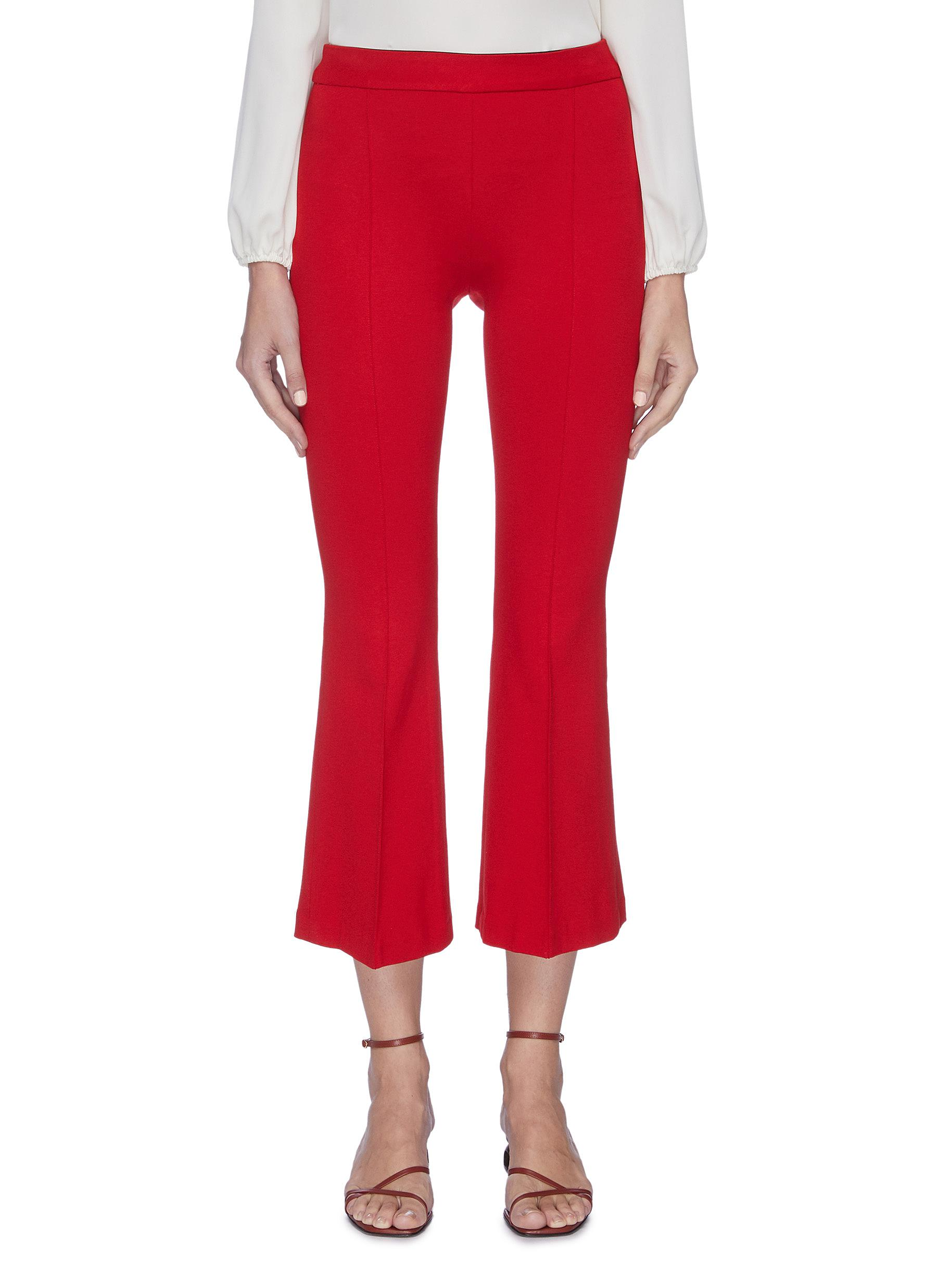 shop Rosetta Getty Pull-on flared cropped pants online