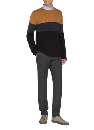 Figure View - Click To Enlarge - EQUIL - Colourblock panel wool knit sweater