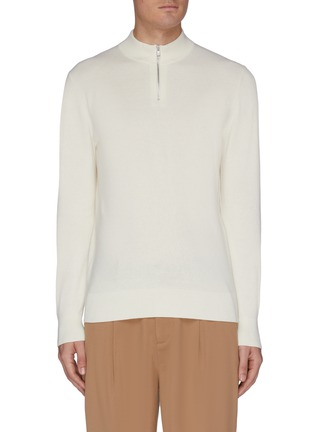 Main View - Click To Enlarge - EQUIL - Half zip cashmere blend top