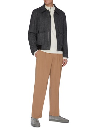 Figure View - Click To Enlarge - EQUIL - Half zip cashmere blend top