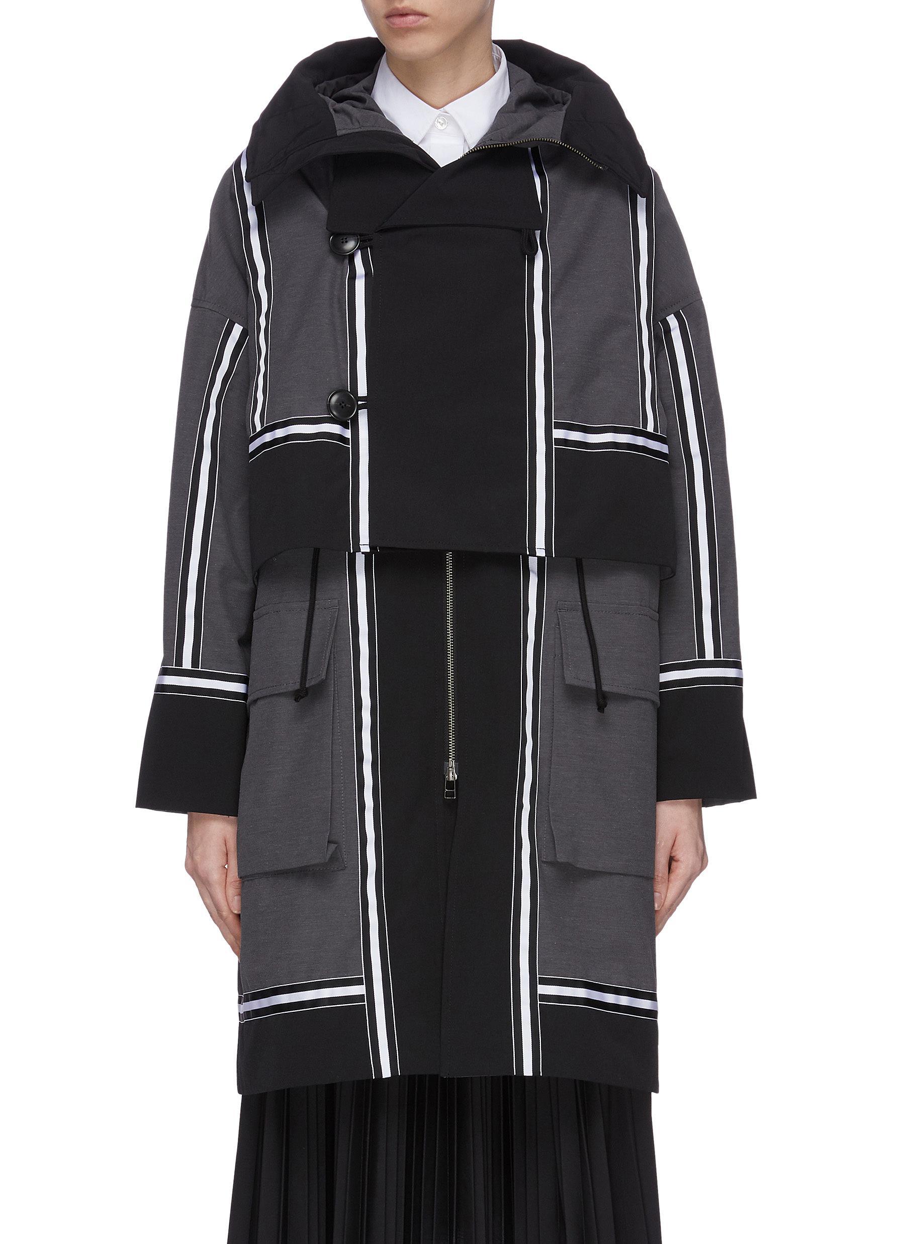 shop The Keiji Detachable panel oversized coat online