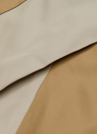 - THE KEIJI - Belted colourblock panel trench coat