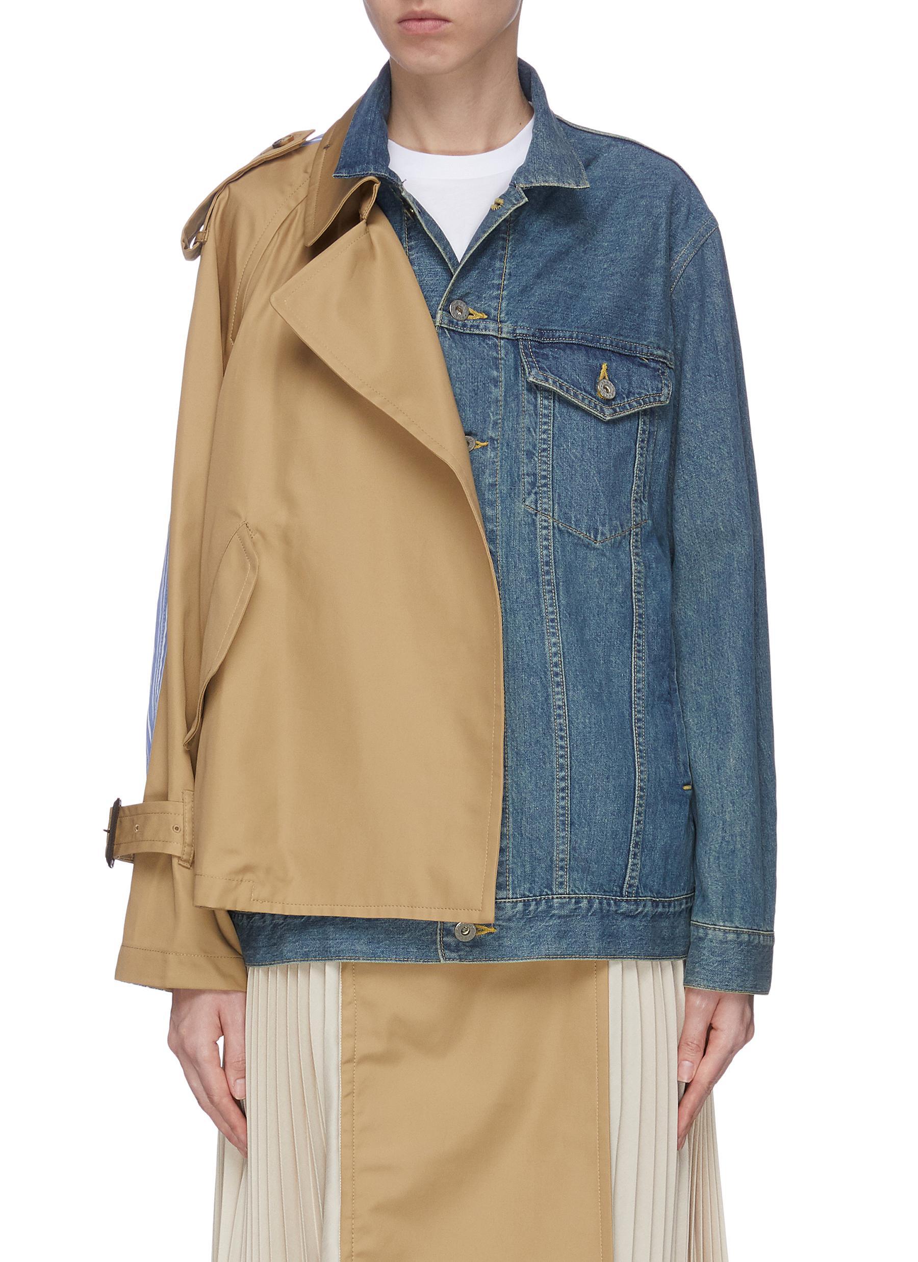 shop The Keiji Trench panel denim jacket online