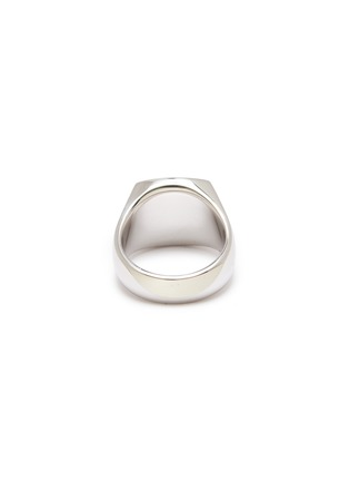 Detail View - Click To Enlarge - TOM WOOD - 'Cushion Polished' silver signet ring – Size 54