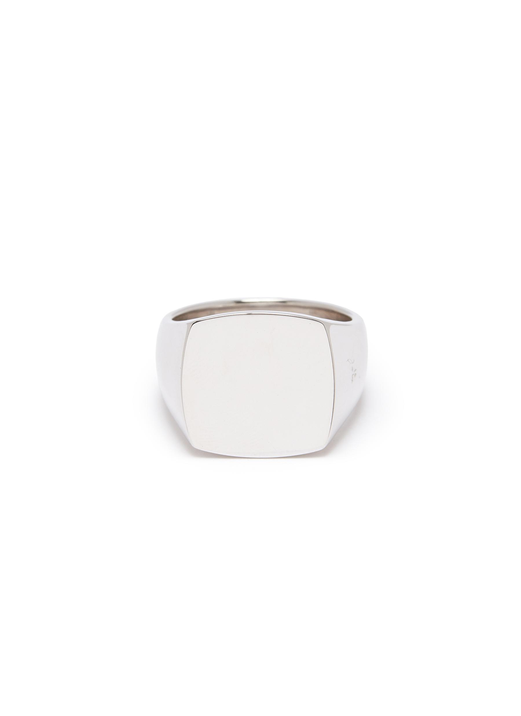 Tom Wood Accessories 'Cushion Polished' silver signet ring – Size 60