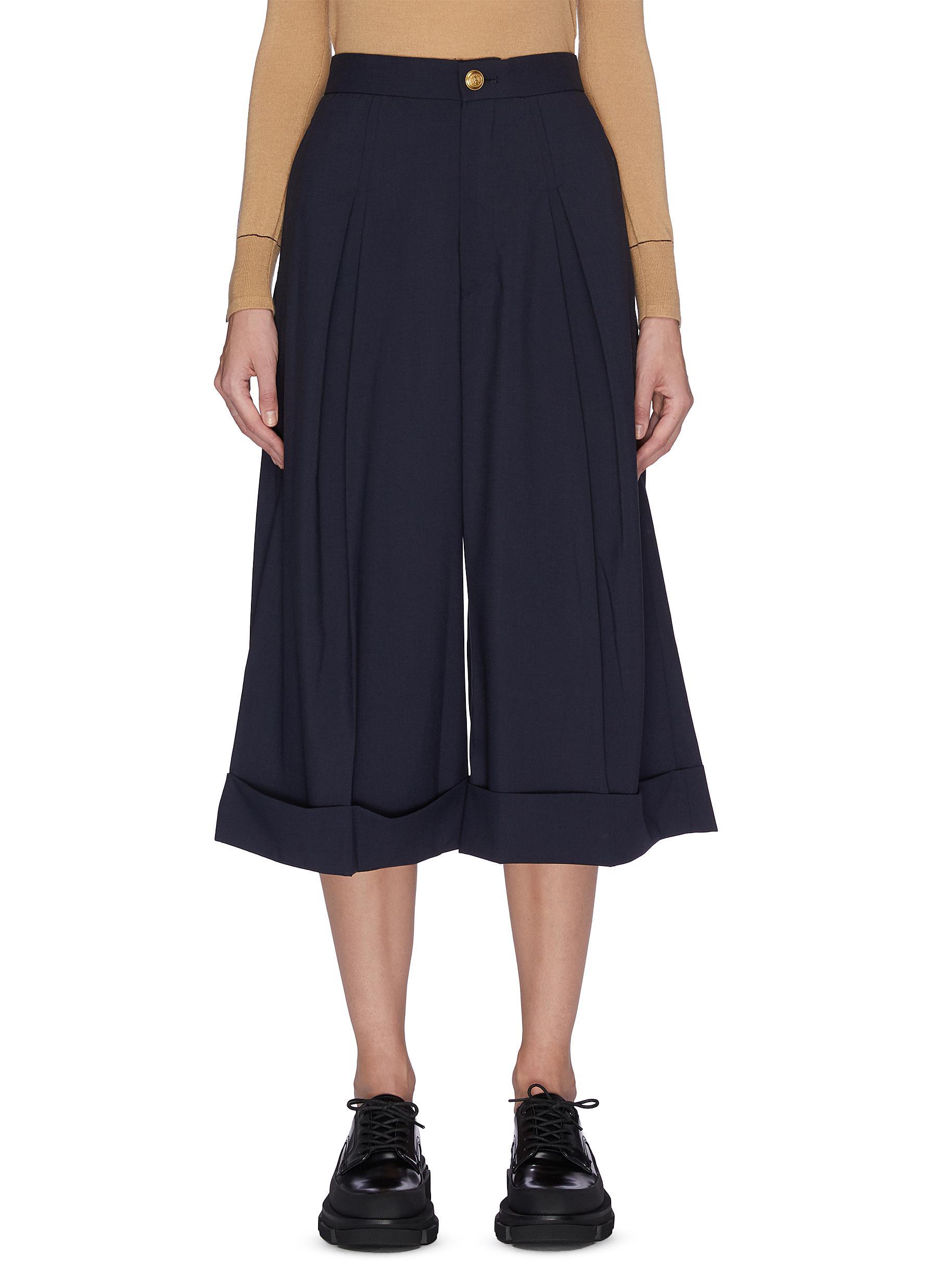 shop Toga Archives Darted flare leg culottes pants online
