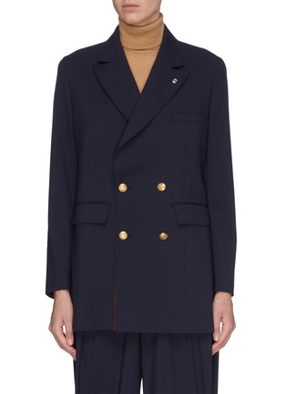 Main View - Click To Enlarge - TOGA ARCHIVES - Double breast suiting blazer