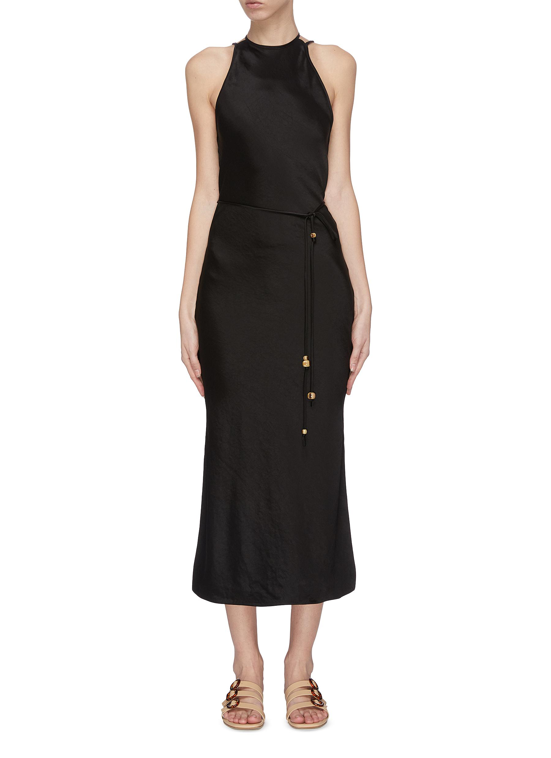 shop Nanushka 'Narita' belted sleeveless dress online