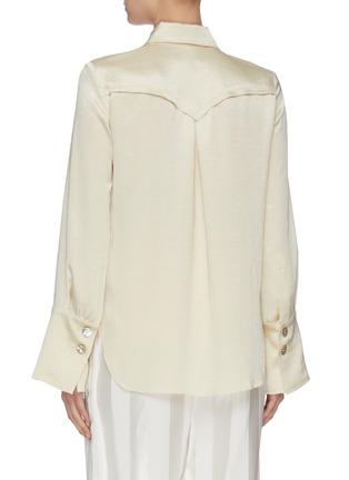 Back View - Click To Enlarge - NANUSHKA - 'Mandine' shell button satin blouse