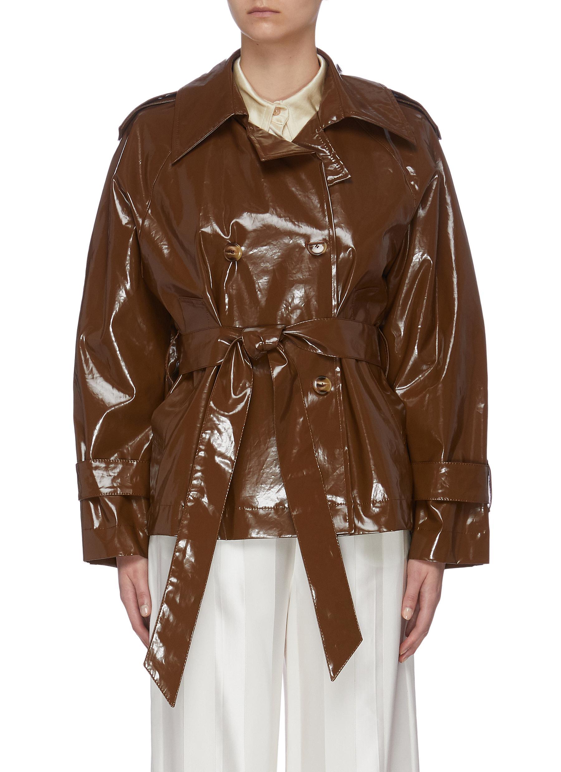 Buy Nanushka Jackets 'Biel' Crop Trench Jacket