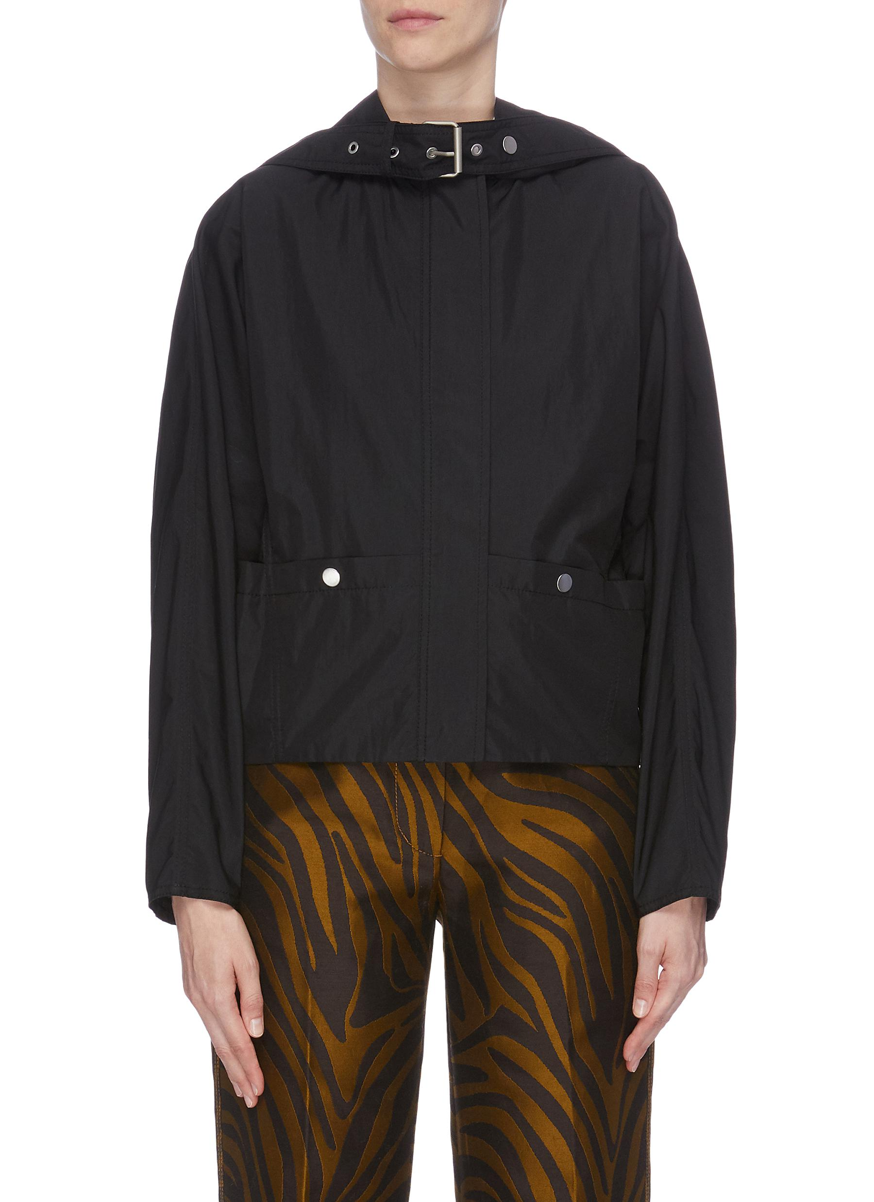 Belt neck hooded track jacket by 3.1 Phillip Lim