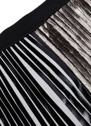 - PROENZA SCHOULER - Plissé stripe pleated maxi skirt