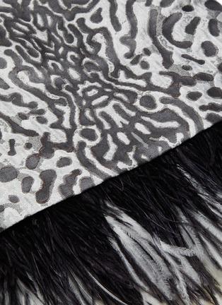 - PROENZA SCHOULER - Leopard jacquard feather hem cross back dress