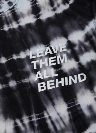 - SATISFY - 'Leave Them All Behind' Slogan Tie Dye Performance T-shirt